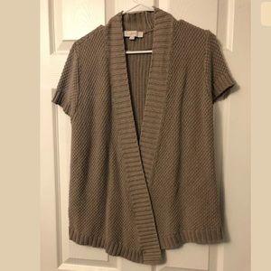 Loft Short Sleeve Cardigan